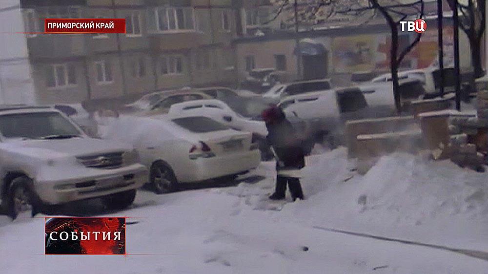 Снегопад в Приморском крае