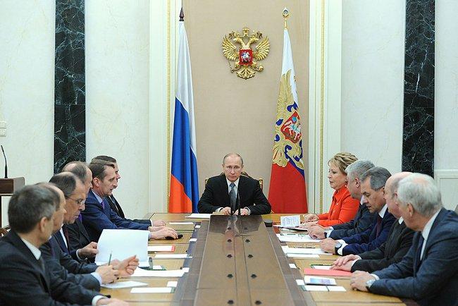 Совещание Владимира Путина с постоянными членами Совбеза