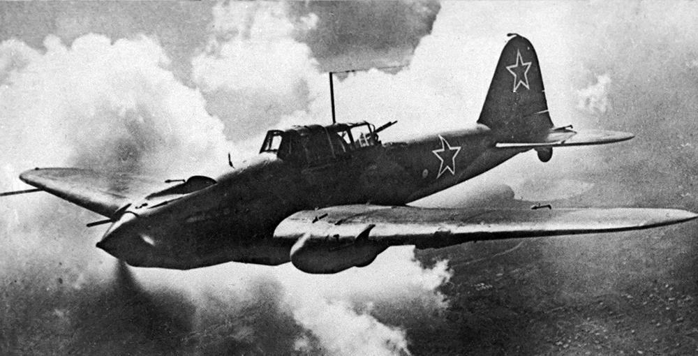 Великая Отечественная война 1941-1945 годов. Штурмовик Ил-2 в небе