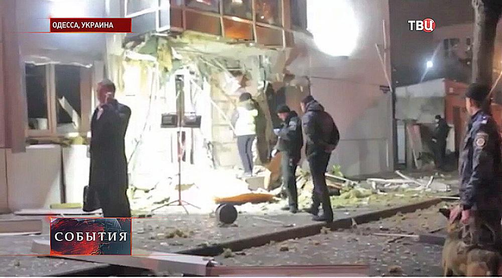 """Взрыв в офисе парламентской партии """"Самопомощь"""""""