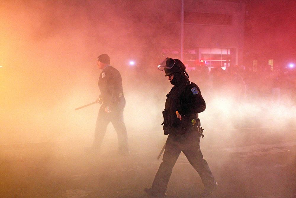 Полиция США во время беспорядков