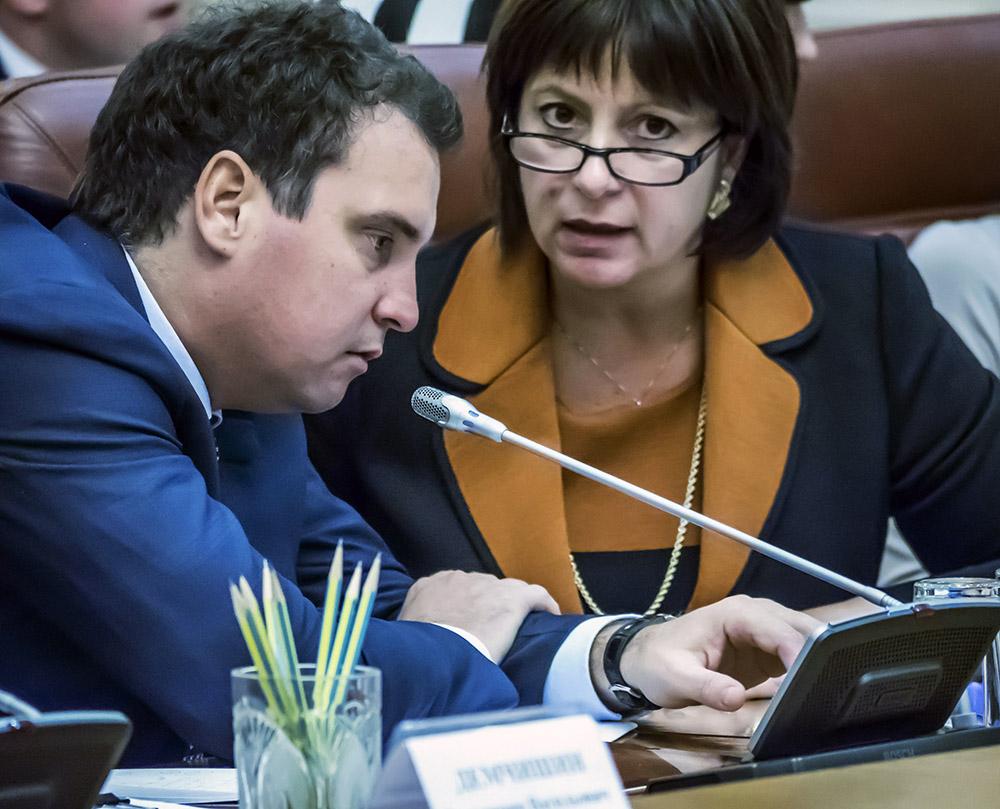 Министр экономического развития Украины Айварас Абромавичус и министр финансов Украины Наталья Яресько