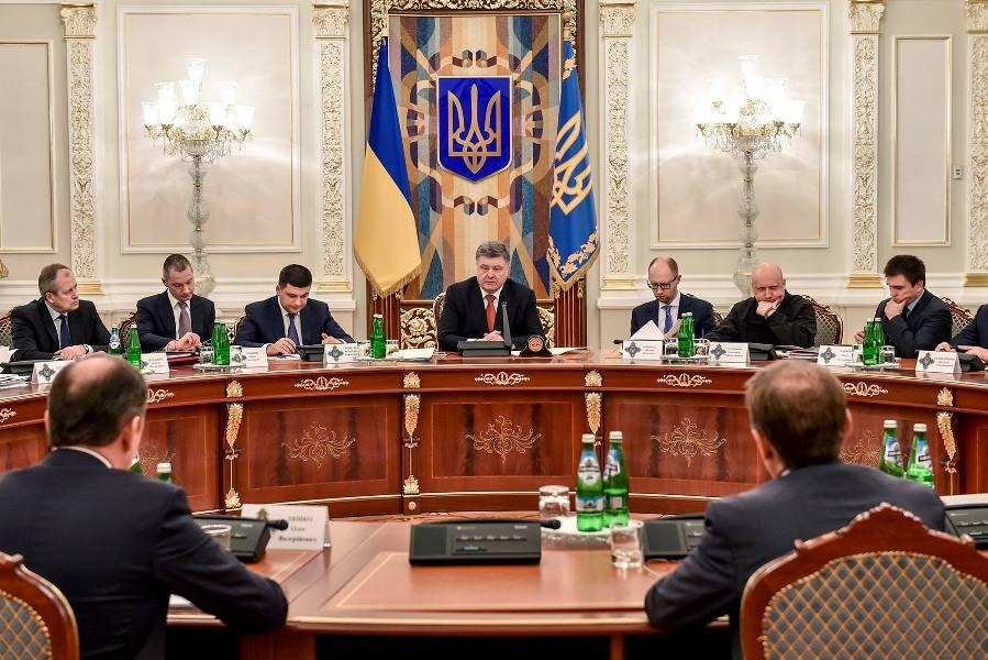 Петр Порошенко на заседании Совета национальной безопасности и обороны Украины