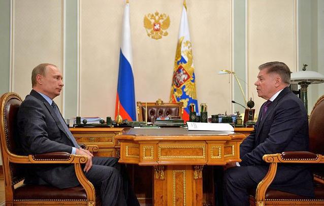 Президент России Владимир Путин и председатель Верховного Суда Вячеслав Лебедев