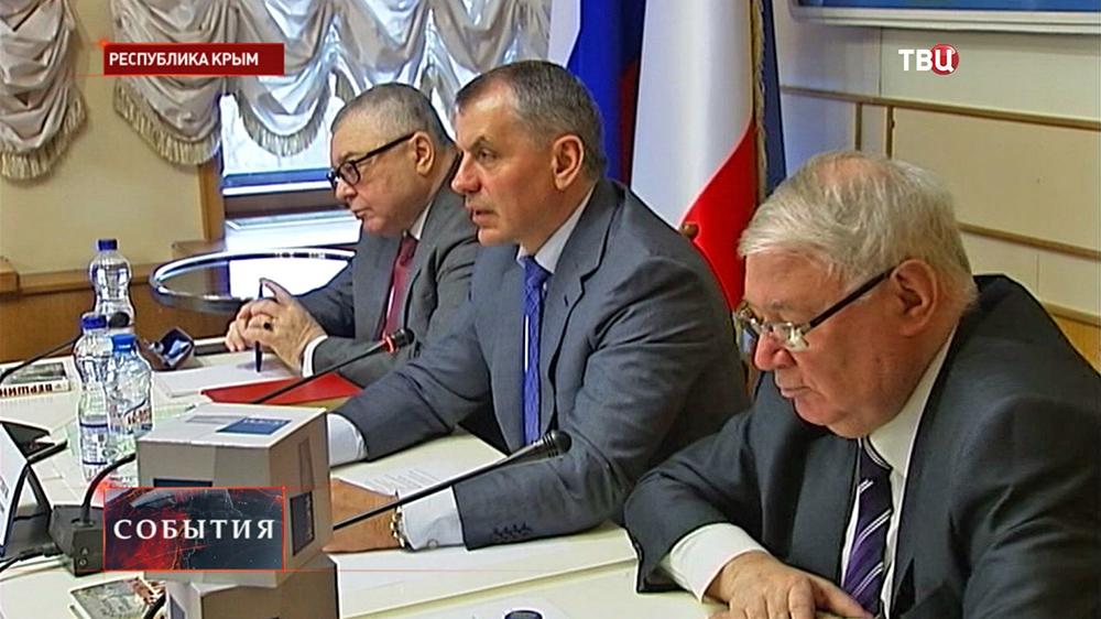 Представители Общественной палаты Крыма и Института социально-экономических и политических исследований