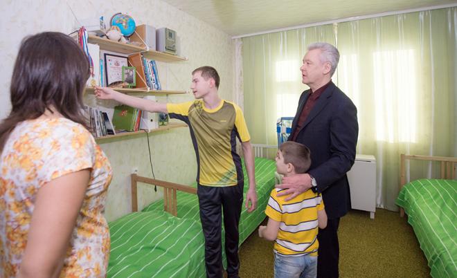 Сергей Собянин с семьей Княгининых