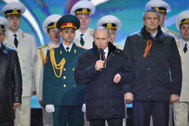 """Владимир Путин на митинге """"Мы вместе!"""""""