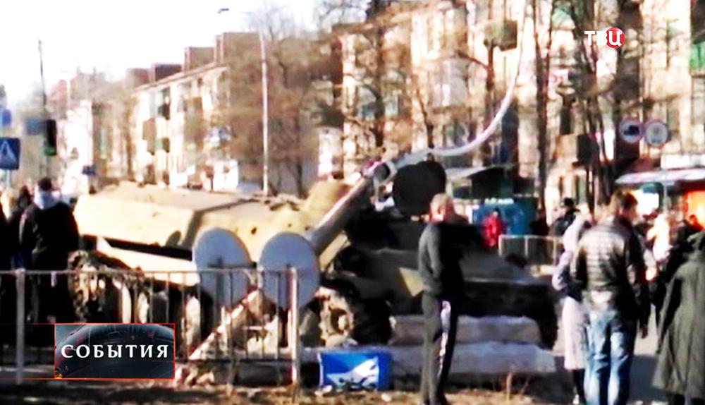 ДТП с участием БМП в Константиновке