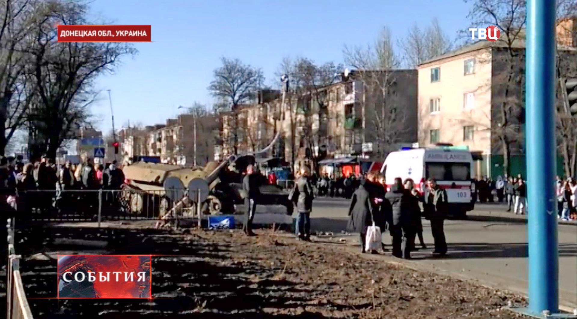 На месте ДТП с участием БМП в Константиновке