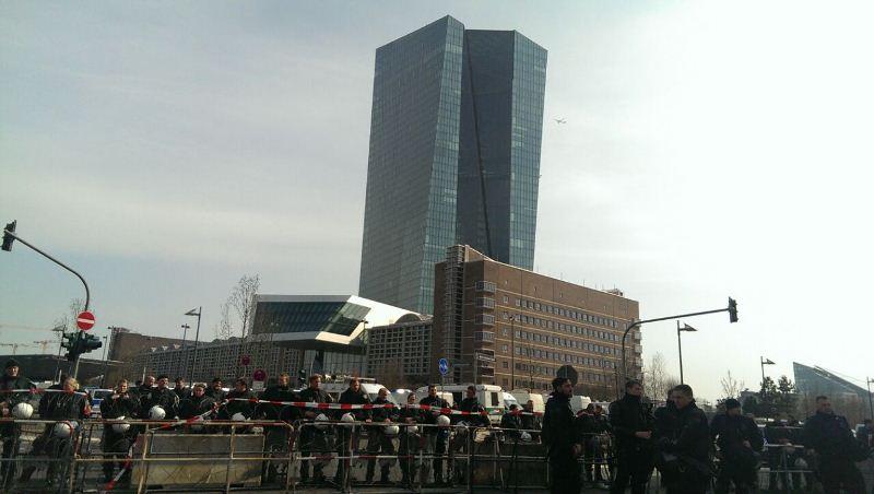 Здание Европейского центрального банка во Франкфурте-на-Майне