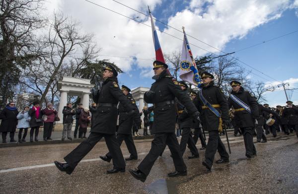 Участники праздничных мероприятий в Севастополе