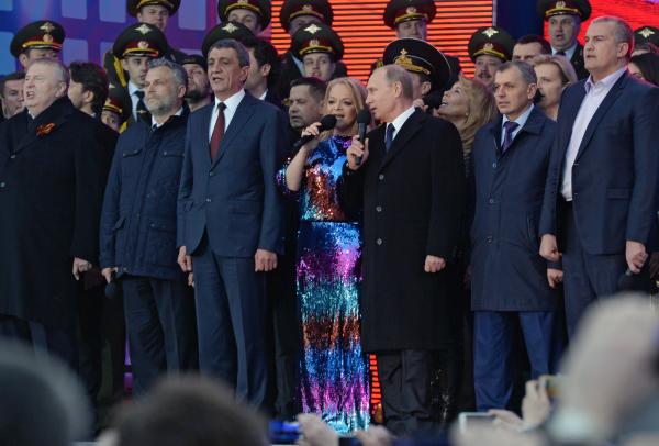 """Президент России Владимир Путин на митинге-концерте """"Мы вместе!"""""""