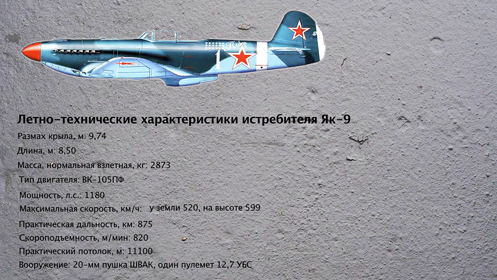 Летно-технические характеристики истребителя Як-9