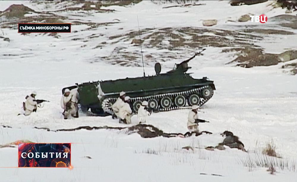 Военные учения в условиях арктики
