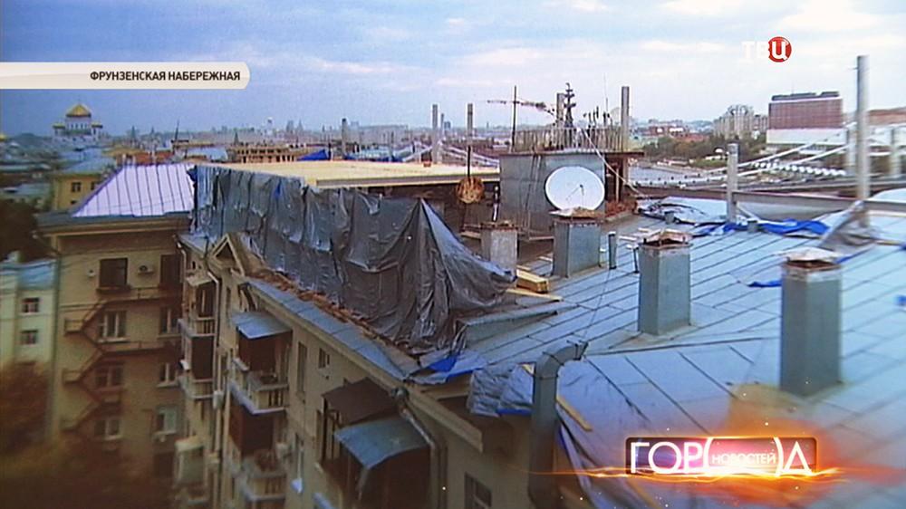 Лица, затеявшие строительство мансарды в доме на Фрунзенской набережной, установлены