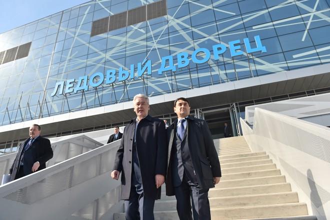 Сергей Собянин на открытии ледового дворца