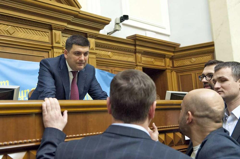 Владимир Гройсман на заседании Верховной рады Украины