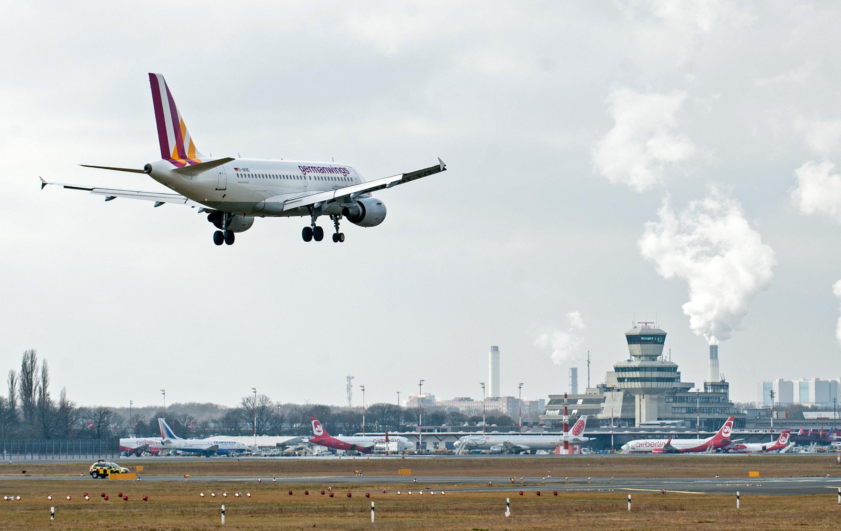 Самолет Airbus A320 авиакомпании German Wings