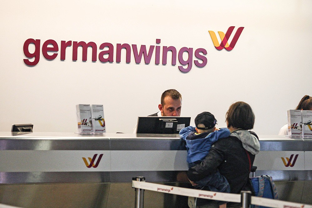 Стойка авиакомпании Germanwings