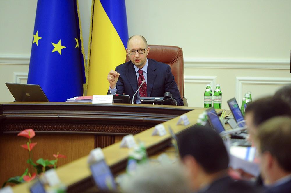 Арсений Яценюк на заседании правительства Украины