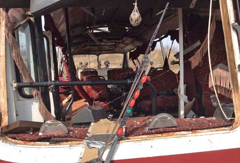 Подрыв автобуса в Донбассе