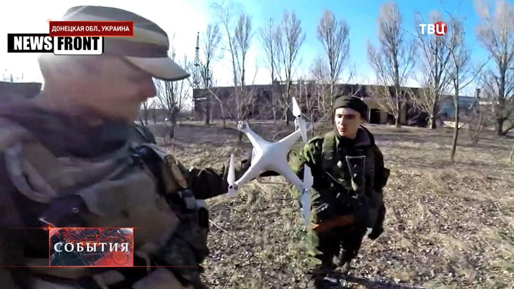 Народные ополченцы Донбасса сбили украинский беспилотник