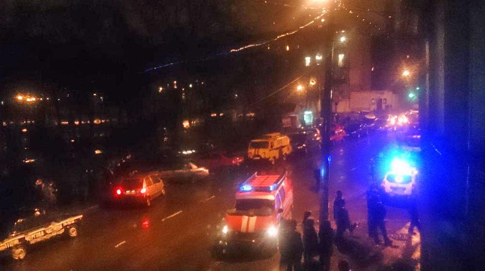 Оцепление места происшествия в Одессе