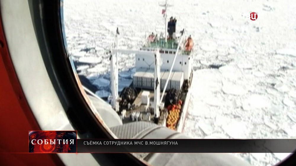 Спасательная операция в Охотском море