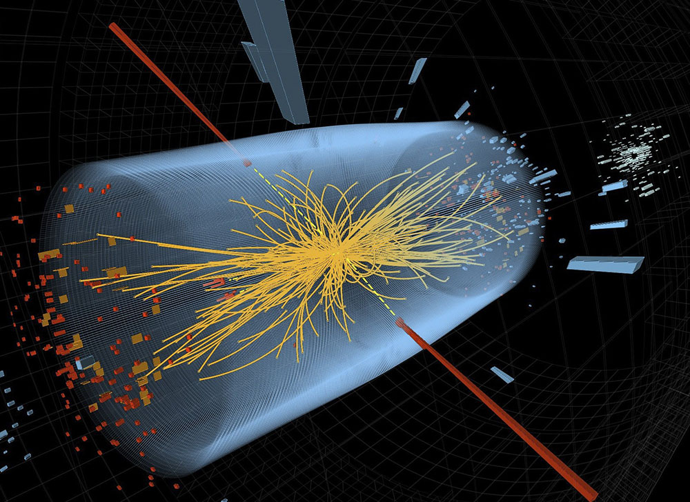 Модель столкновения частиц в большом адронном коллайдере
