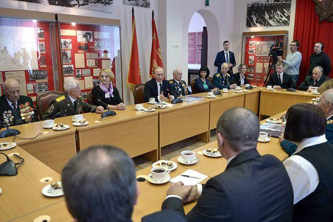 Владимир Путине встретился с ветеранами