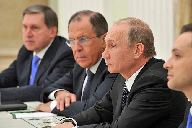 Серей Лавров и Владимир Путин
