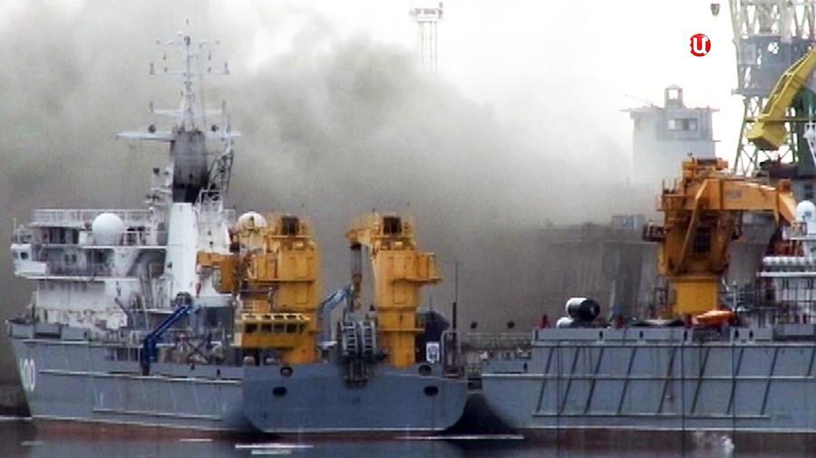 """Пожар на подводной лодке """"Орёл"""""""