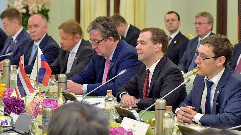 Дмитрий Медведев на российско-таиландские переговоры