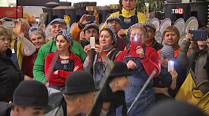 Зрители на Даниловском рынке