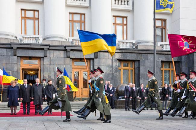 Визит президента Польши Бронислава Коморовского на Украину