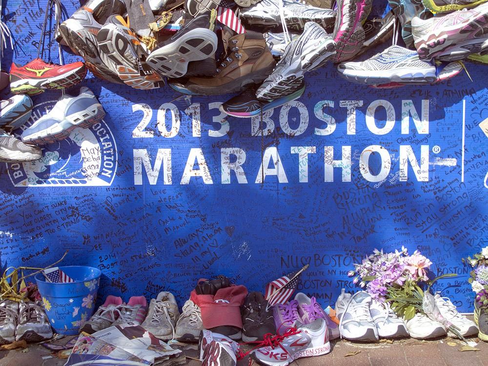 Место терака в Бостоне