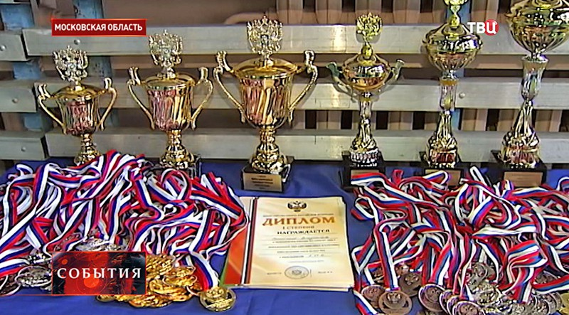 Медали и кубки спортсменов