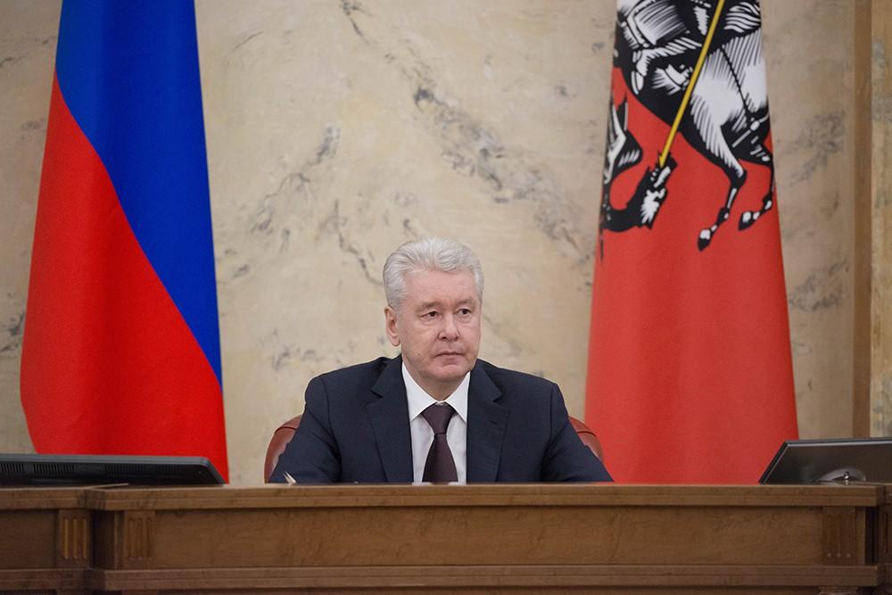 Мэр Москвы Сергей Собянин во время заседания правительства Москвы