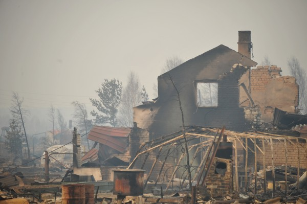 Последствия пожара в Забайкальском крае