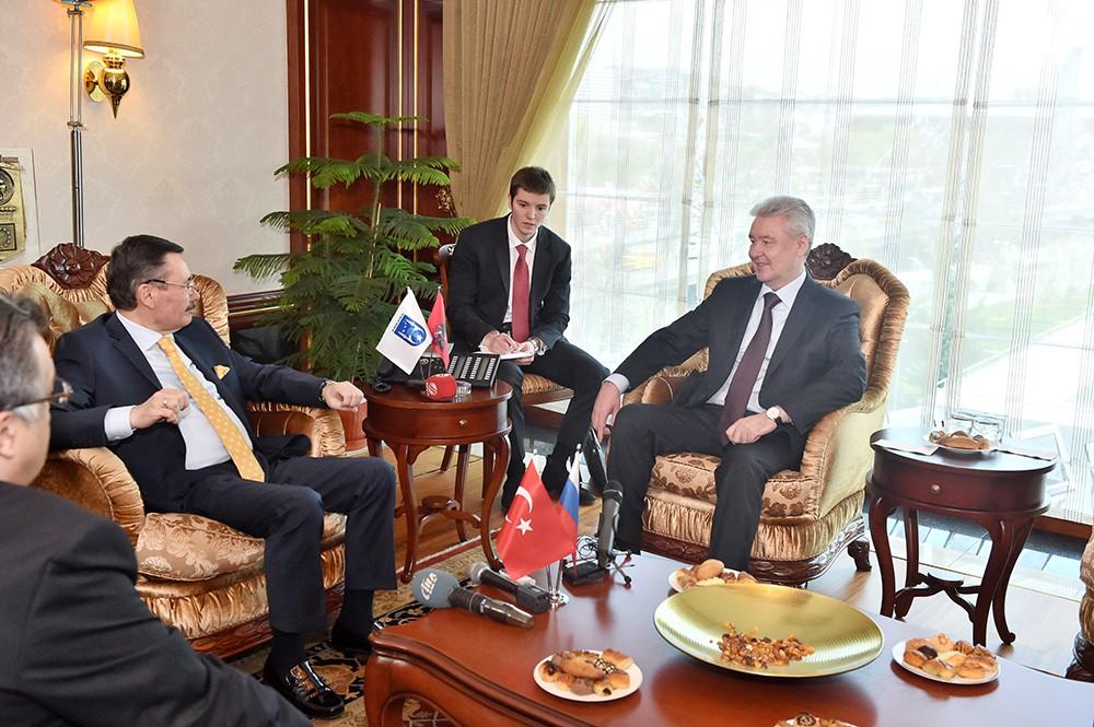 Мэр Москвы Сергей Собянин во время рабочей поездки в Анкару