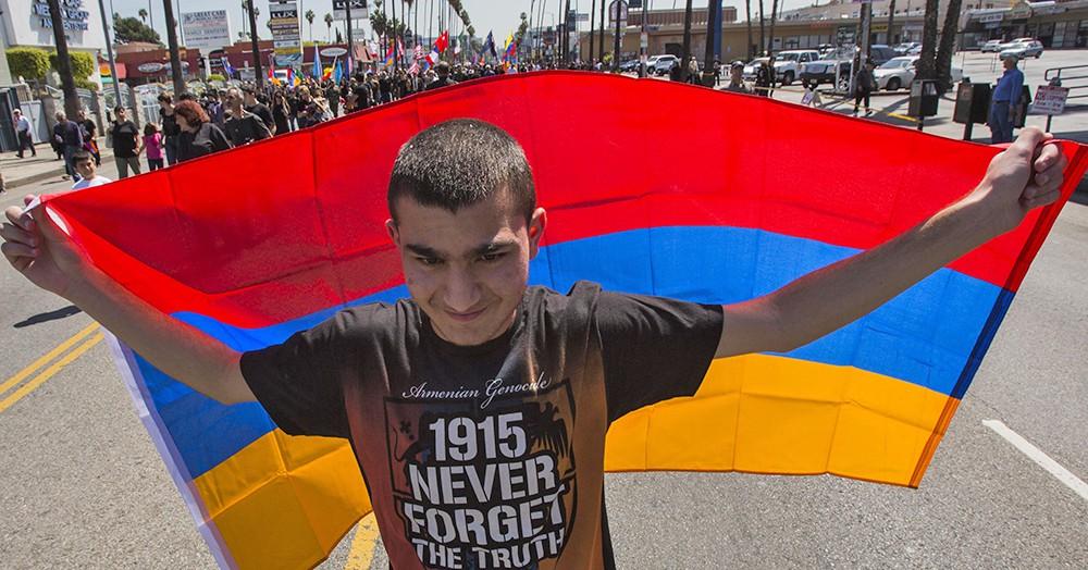 Митинг в память жертв геноцида армян 1915 года