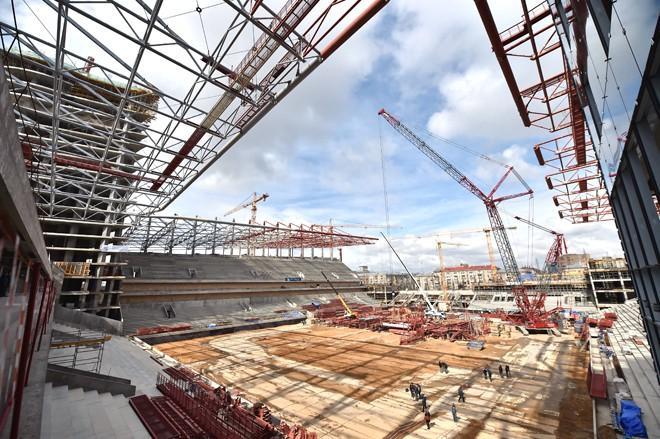 Строительство стадиона ЦСКА в Москве