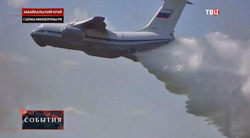 Пожарные борются с огнем в Забайкальском крае