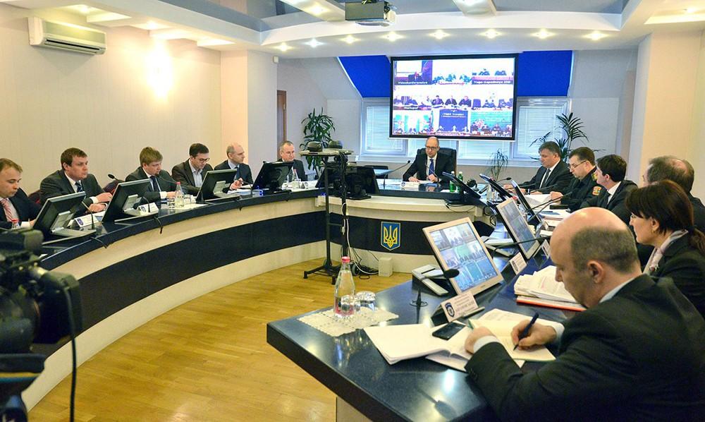 Заседание Госкомиссии Украины по чрезвычайным ситуациям