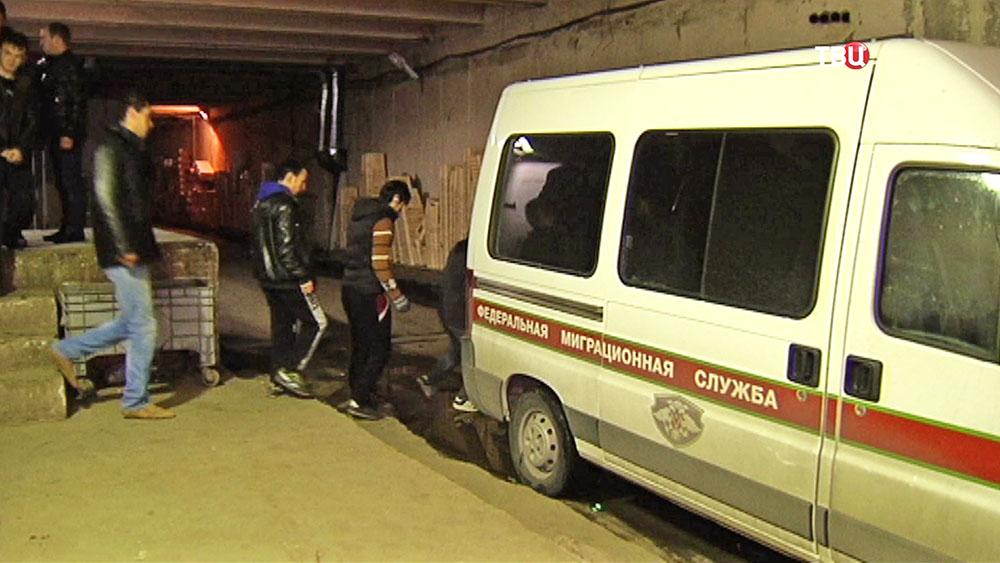 Задержание нелегальных мигрантов