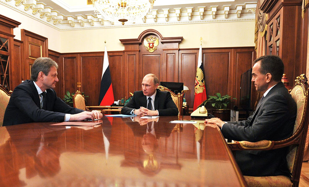 Владимир Путин, Александр Ткачев и Вениамин Кондратьев