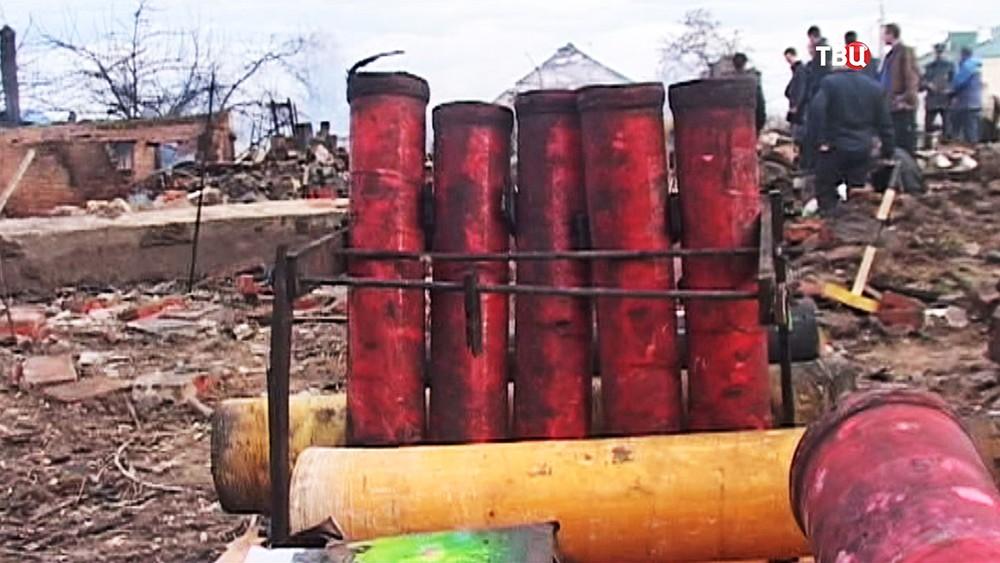 Последствия взрыва в Орле