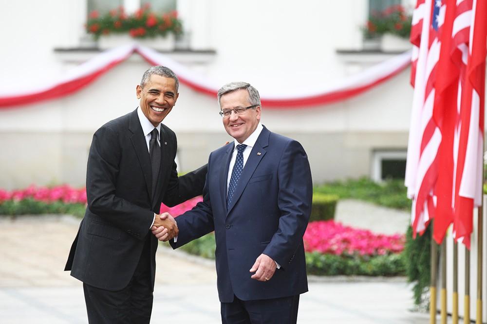 Президент США Барак Обама и президент Польши Бронислав Коморовский