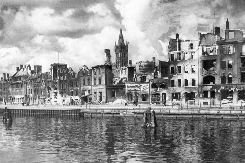 Разрушенный Кенигсберг (Восточная Пруссия), 1944 год.