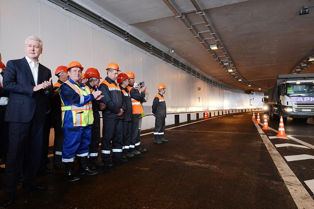 Открытие тоннеля в составе развязки Дмитровского шоссе и МКАД